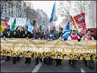 Several thousand people participate in a pro-union demonstration in Paris on Nov. 14, 2007.