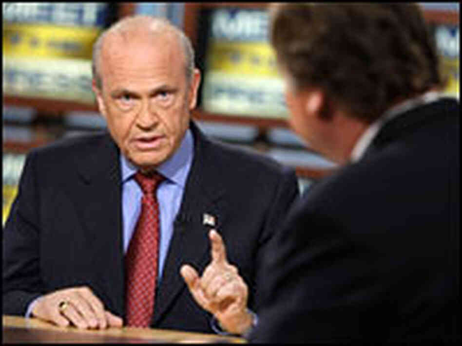 Fred Thompson faces Tim Russert on 'Meet the Press.'