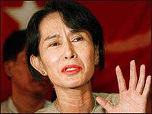Myanmar democracy leader Aung San Suu Kyi