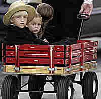 Amish Children head to funeral