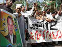 The Pakistan Muslim League-Nawaz (PML-N) stages a protest against President Pervez Musharraf.