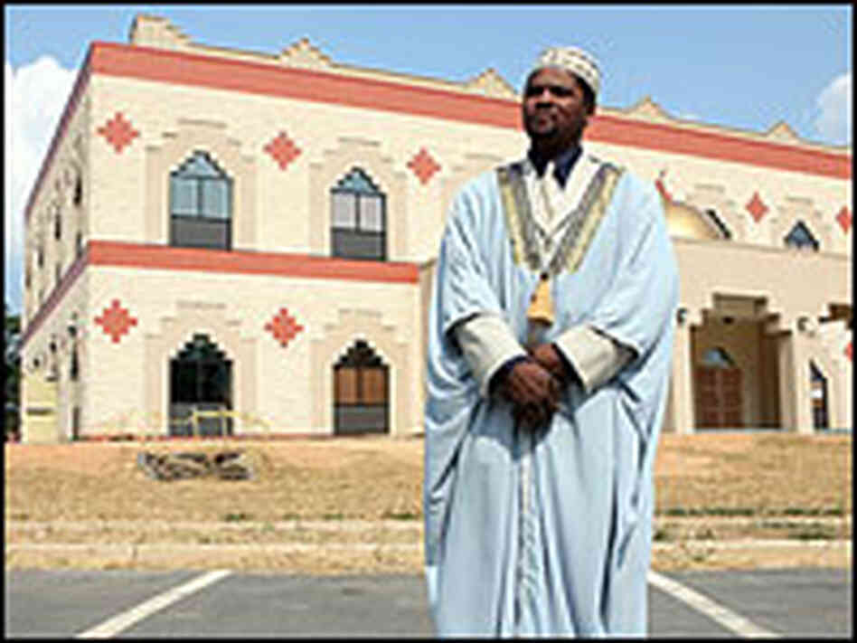 Imam outside of mosque