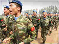 People's Liberation Army soldiers train for a mission to Darfur.