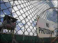 This file photo from April 24 shows the outer fence at Guantanamo Bay, Cuba.