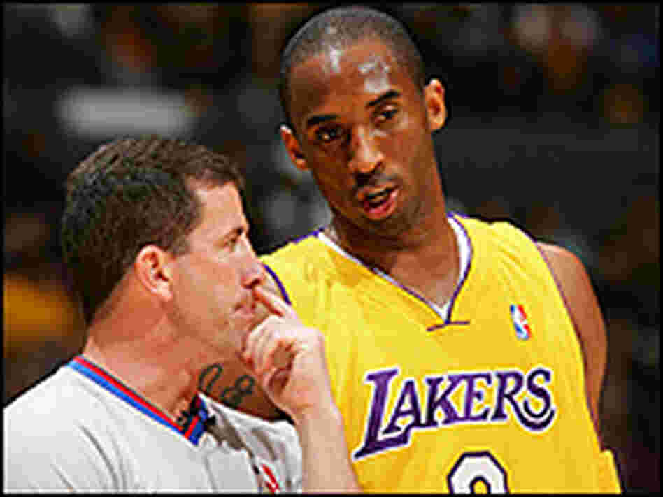 NBA official Tim Donaghy and Kobe Bryant