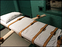 Death penalty gurney, via the NPR site.