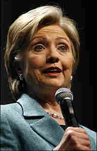 Hillary Clinton speaks at a fundraising event in Los Angeles on Thursday.