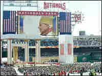Pope Benedict XVI celebrates mass at Nationals Stadium in Washington, D.C.