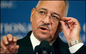 The Rev. Jeremiah Wright, former pastor of the Trinity United Church of Christ in Chicago