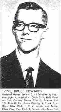 Bruce Ivins, in a high school yearbook photo.