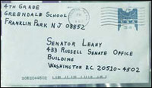 A letter addressed to Sen. Patrick Leahy in 2001 contained anthrax.