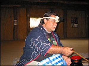 Ainu community leader Aku Sawai.