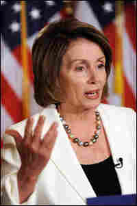 Speaker of the House Nancy Pelosi at a June press conference