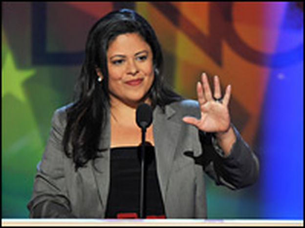 Maya Soetoro-Ng spoke at the Democratic National Convention in Denver on Monday.