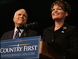 Gov. Sarah Palin, with John McCain