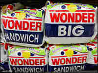 Wonder bread loaves at a grocery store