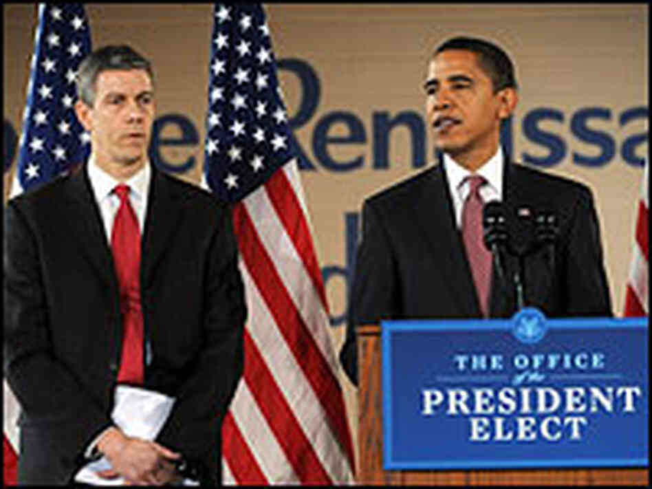 President-elect Barack Obama and education secretary-designee Arne Duncan