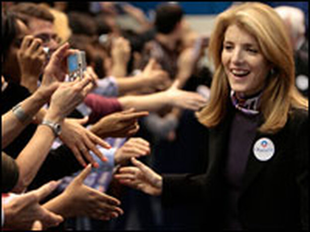 Caroline Kennedy stumped for President-elect Barack Obama in Hartford, Conn., in February. Her endorsement of Obama put her on the national stage.