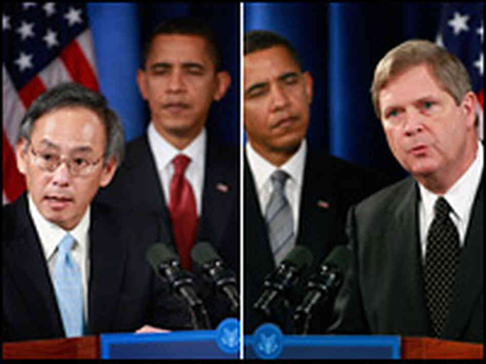 Author Michael Pollan sees a potential rift for Obama's choices: Steven Chu and Tom Vilsack.