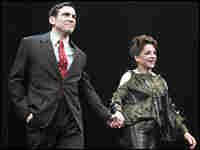 Matthew Risch and Stockard Channing take a curtain call at the Roundabout Theatre Co.'s Studio 54.