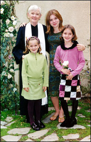 Martha Gilmore and granddaughters.