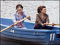 Sally Hawkins and Alexis Zegerman in 'Happy-Go-Lucky.'