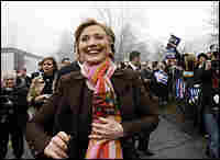 Clinton casts her primary vote