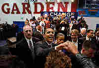 Democratic presidential candidate Sen. Barack Obama campaigns