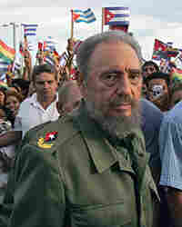 Cuban President Fidel Castro takes part in a rally in July of 2006.
