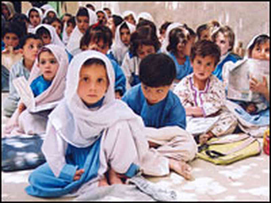 Young students in Pakistan.