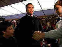 Mitt Romney visits a diner in Portsmouth, N.H.
