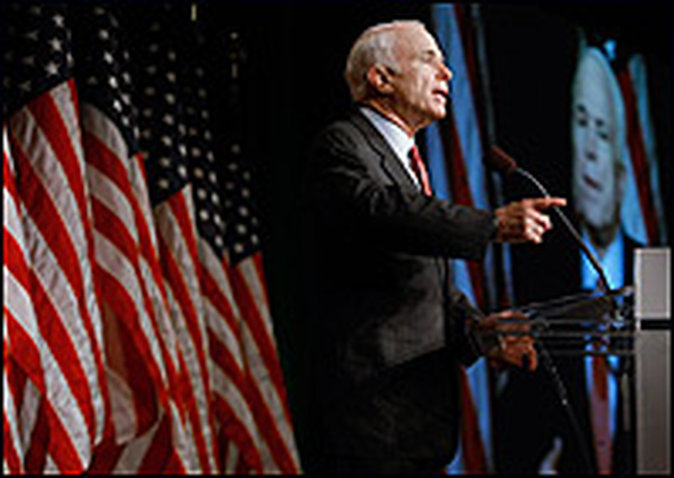 Arizona Sen. John McCain speaks during the 2008 National Small Business Summit on June 10, 2008 in Washington D.C.