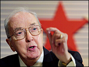 Then-Sen. Jesse Helms speaks January 31, 2002, at the Conservative Political Action Conference
