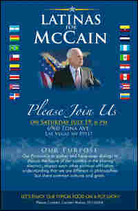 a flyer for Latinas for McCain