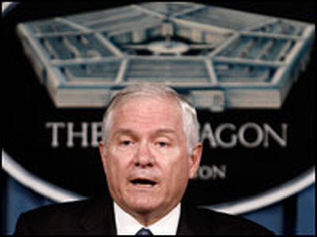 Defense Secretary Robert Gates, seen speaking at the Pentagon in June, is ordering a review of the $40 billion Air Force tanker contract.