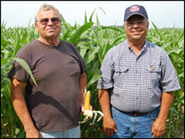 Charles Profit (left) and Dale Profit grow corn at Agracola Farms in Van Wert, Ohio. They say their cost of fertilizer is up.