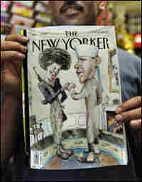 New Yorker cover with Obama and wife