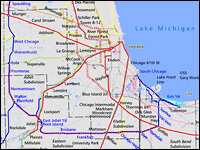 Chicago Railroad Map Monster Trains And A Monster Problem In Chicago : NPR