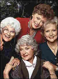 Estelle Getty with fellow stars Rue McClanahan, Betty White and Bea Arthur.
