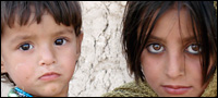 A boy and girl in Afghanistan.