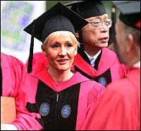 J K Rowling at Harvard