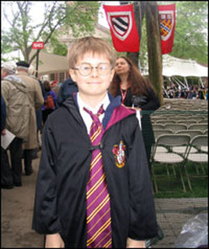 Allister Beeson dressed as Harry Potter.