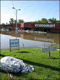 Flooded downtown Columbus Junction, Iowa.