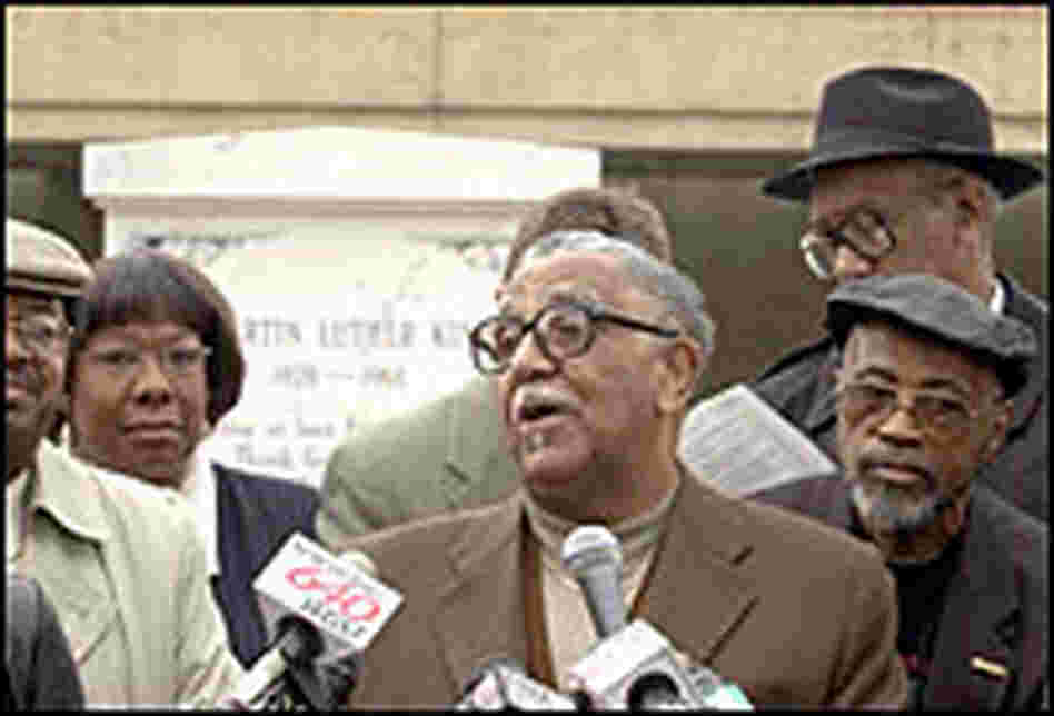 Rev. Joseph Lowery speaking at a media conference in 2003.