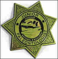 Junior paleontologist badge
