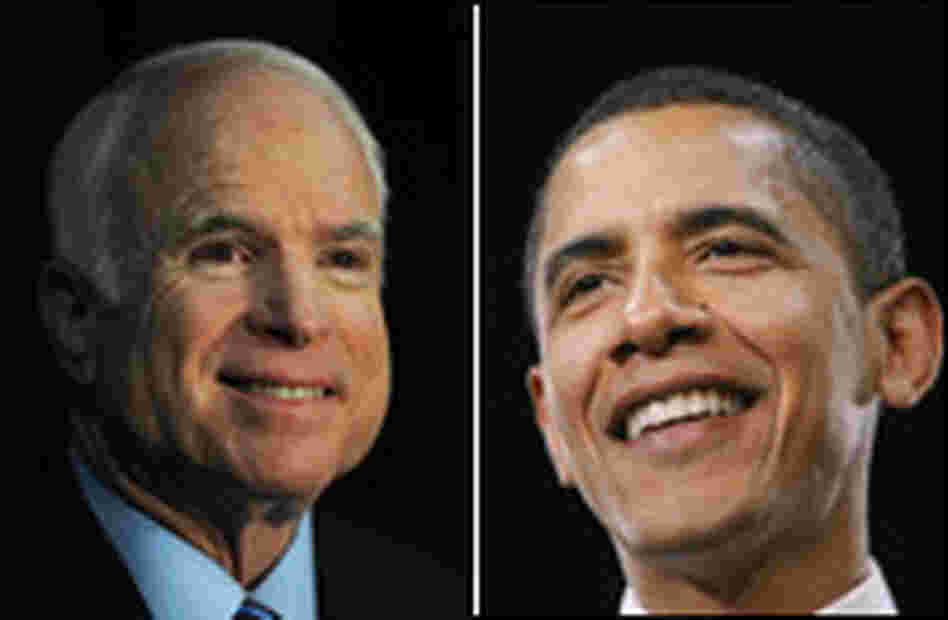 Illinois Sen. Barack Obama and Arizona Sen. John McCain