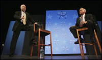 McCain speaks about education during a campaign forum.