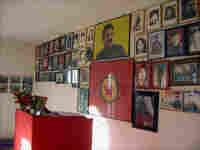 A memorial for slain Kurdish rebel fighters and separatist leader Abdullah Ocalan.