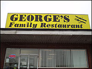 At George's Family Restaurant in Aliquippa, Pa.