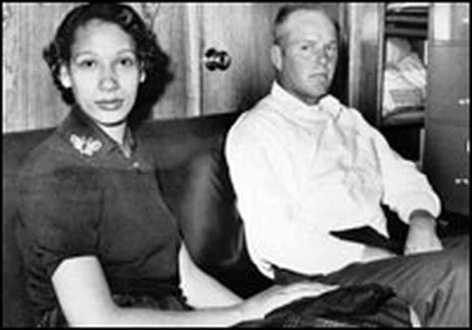 Mildred Loving and her husband, Richard Loving, in 1965.